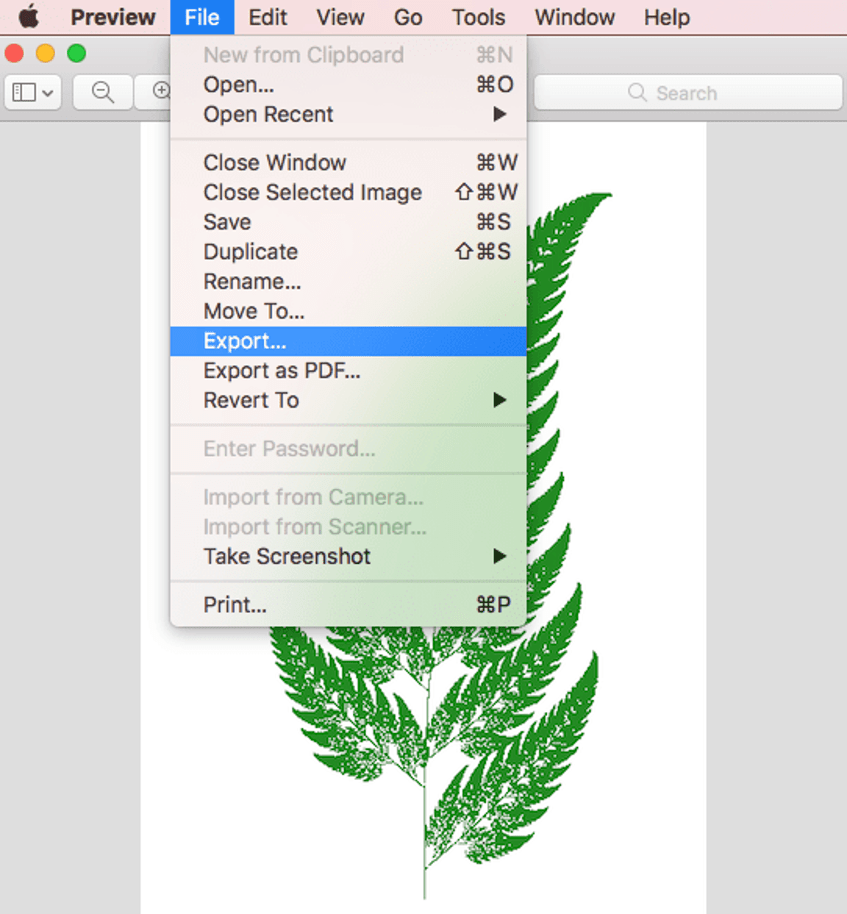 Convert TGA to PNG with Mac Preview