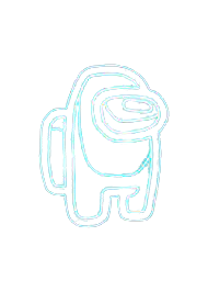 Neon among us icon png & clipart images | Free  Neon among us png.