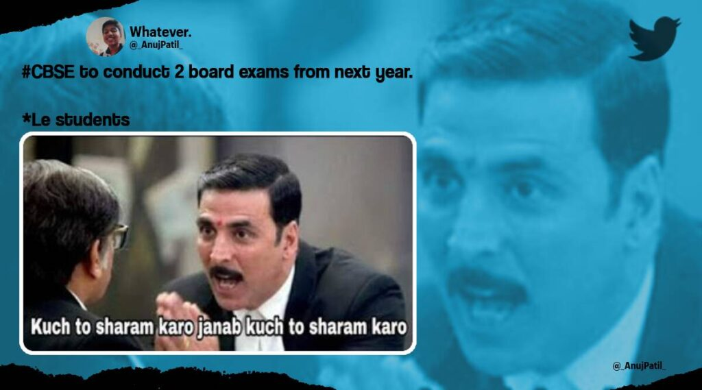 CBSE Memes 2021: According to the Board, the first term exams will be held in November-December and the second term examination.
