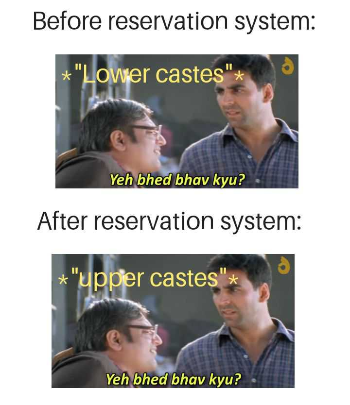Whether to have a reservation system or not, is still a debatable question in India and needs to be addressed in nation's interest.